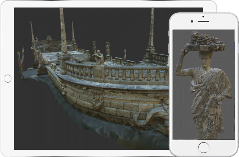 Museum Guides Models screenshot on a tablet and Iphone